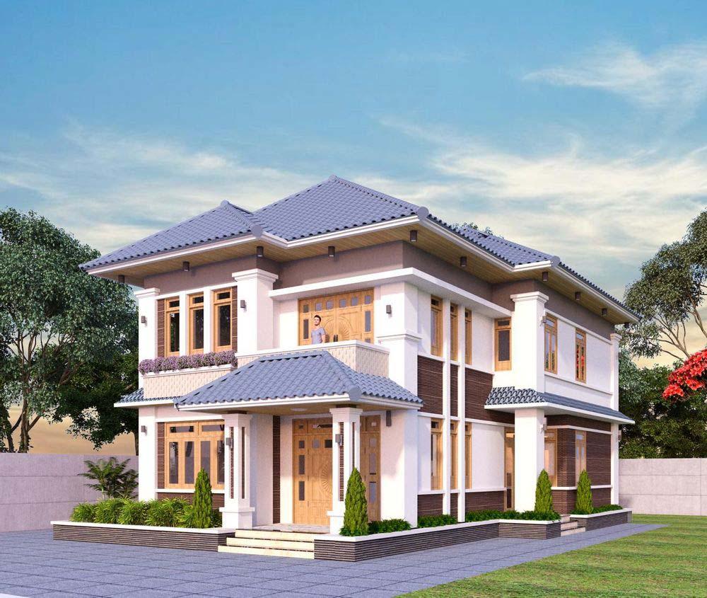 Biệt thự vườn được thiết kế sang trọng với kiến trúc hiện đại