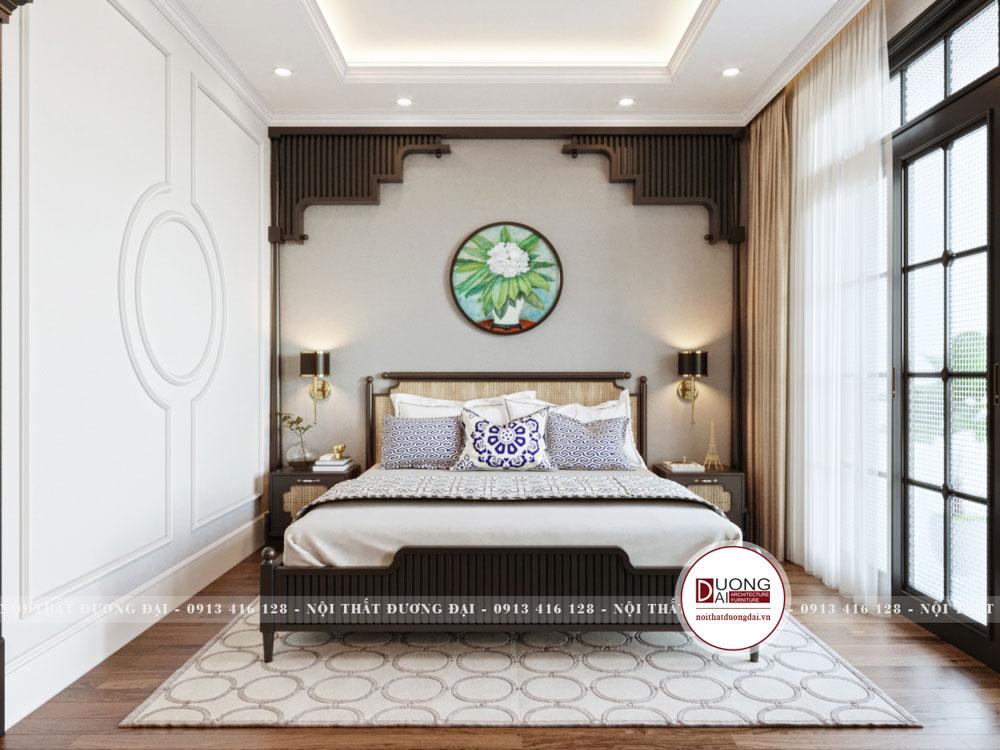 Phòng ngủ Master có không gian mở cùng nội thất đậm nét tinh tế