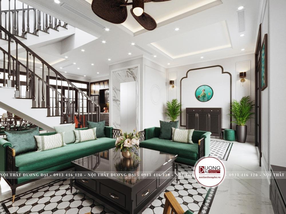 Không gian biệt thự mang phong cách nội thất Đông Dương đầy sang trọng