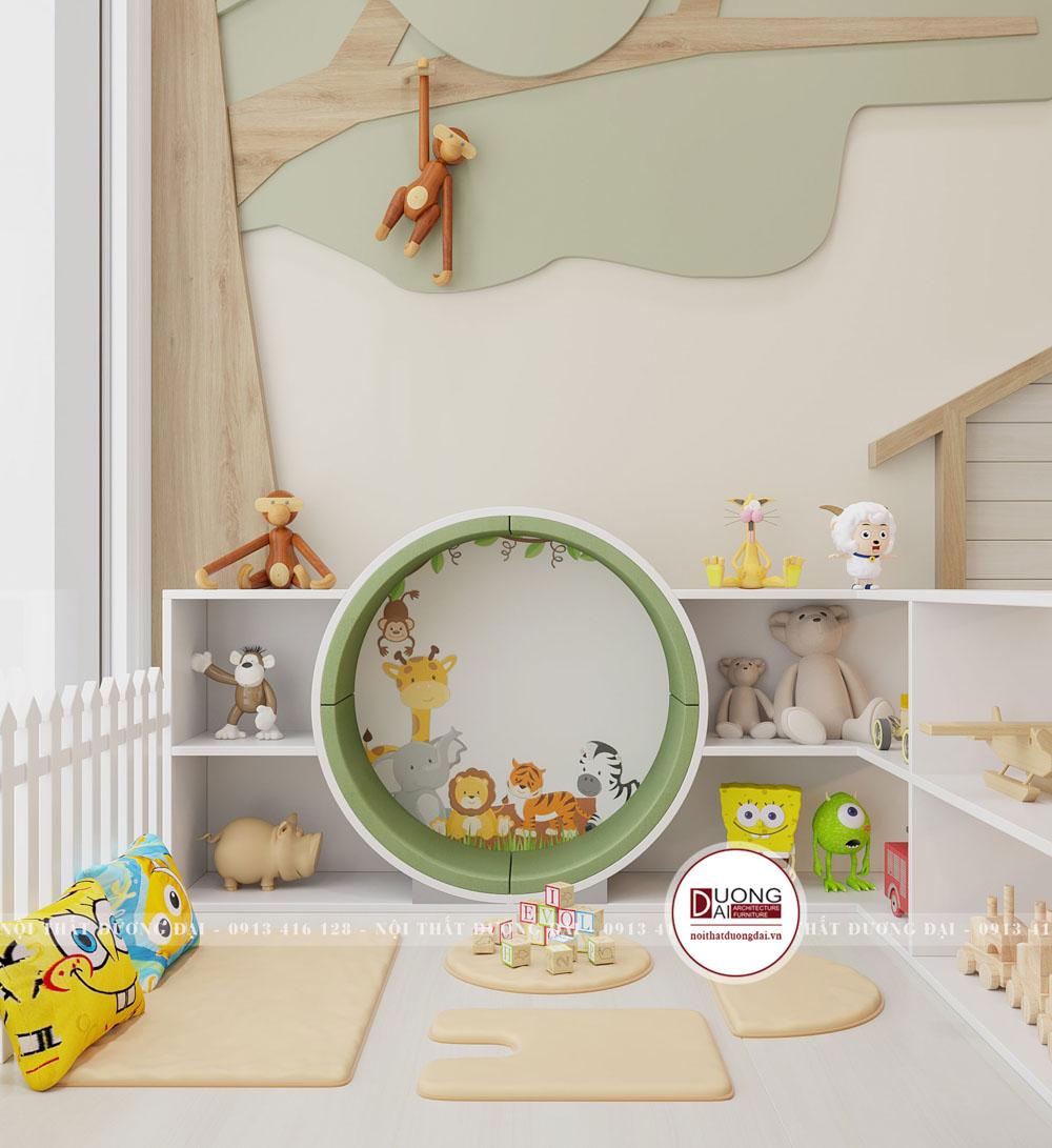 Không gian vui chơi cho bé với kệ trưng bày đồ chơi độc đáo