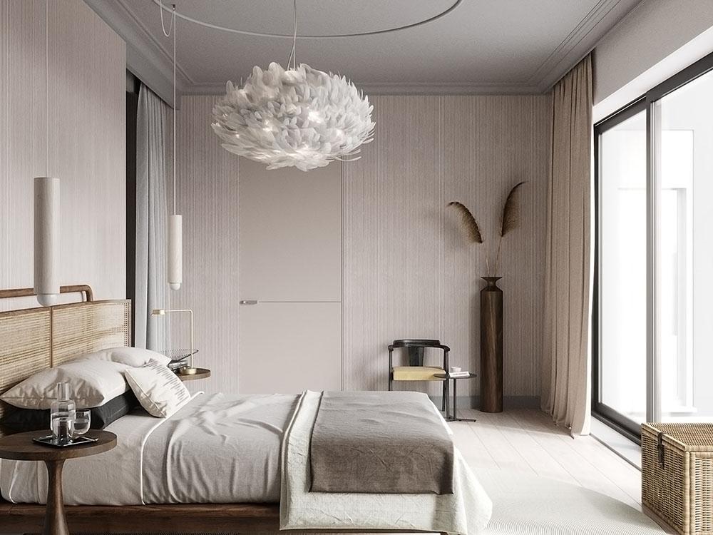 Ban công kính lớn mang ánh sáng tự nhiên vào phòng
