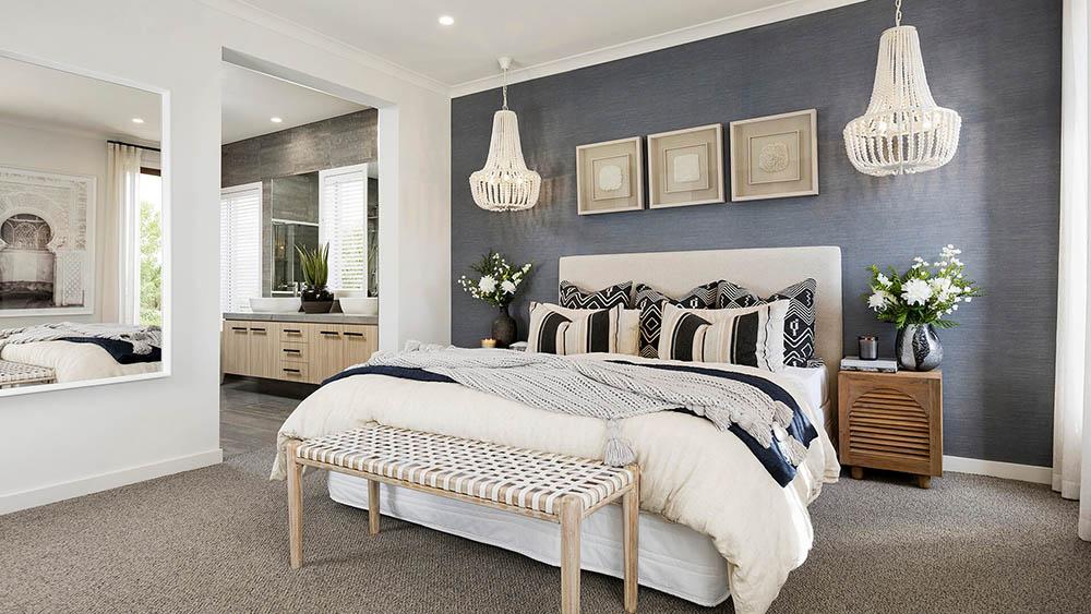 Màu tím hoa oải hương mang đến sự lãng mạn cho căn phòng