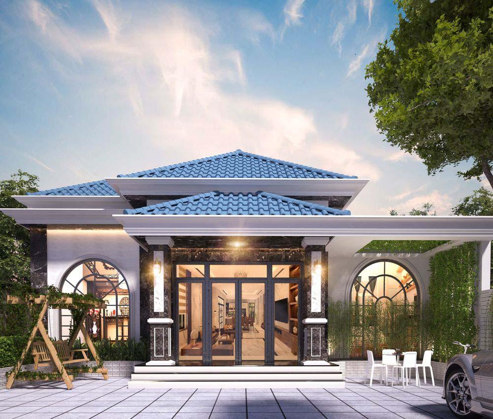 Biệt thự 1 tầng 200m2 thiết kế nhà vườn sang trọng đẳng cấp