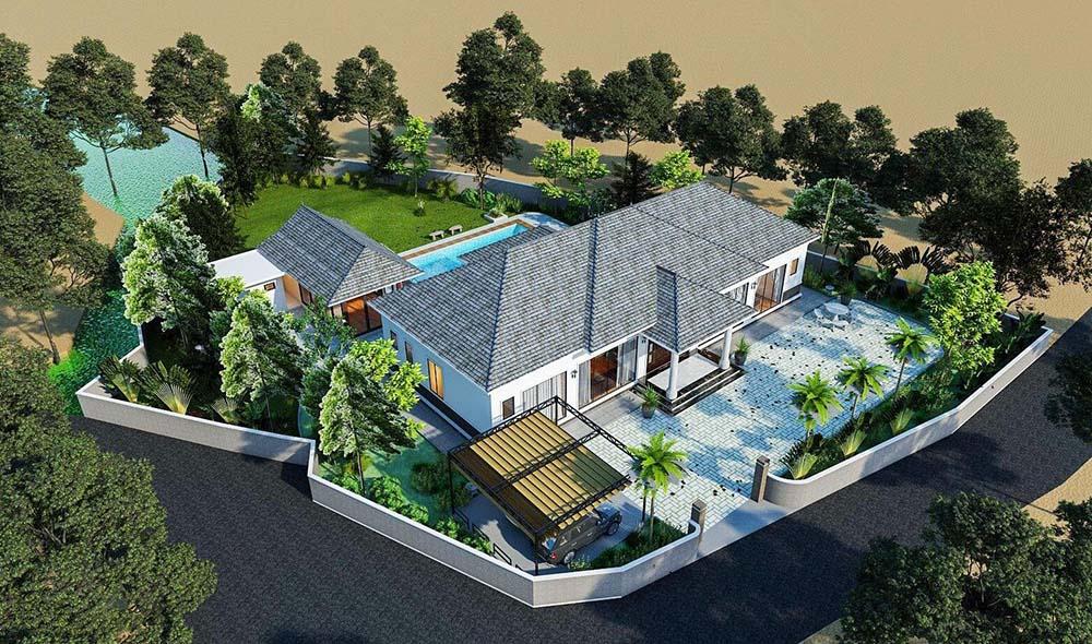 Thiết kế không gian biệt thự rộng lớn đẳng cấp cho gia đình