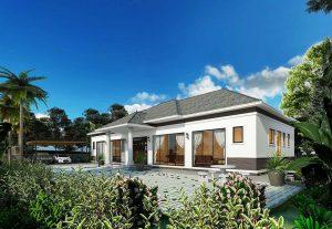 Biệt thự nhà vườn xa hoa với thiết kế mái Nhật hiện đại