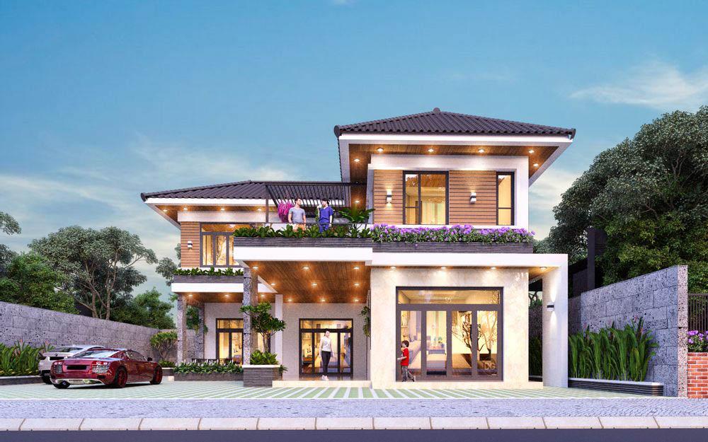 Mẫu biệt thự 2 tầng 800 triệu |15+ Thiết kế hiện đại đẳng cấp