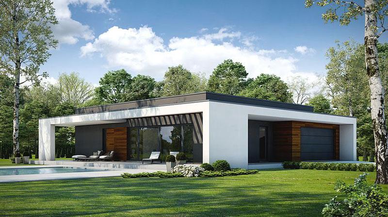 Nhà mái bằng đơn giản và gọn gàng nhưng rất hiện đại