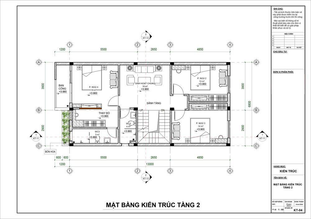 Biệt thự mini 3 tầng 80m2 bố trí công năng khoa học tiện nghi