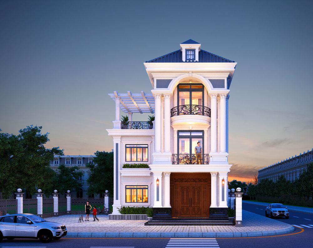 Biệt thự tân cổ điển với kiến trúc uy nghi kiểu Pháp