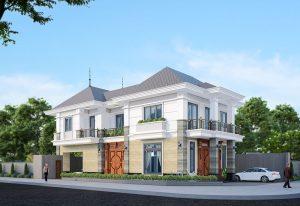Thiết kế biệt thự siêu sang trọng với kiến trúc hiện đại độc đáo