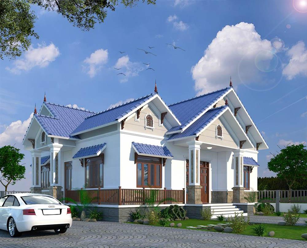 Biệt thự nhà vườn xanh mát với khuôn viên rộng