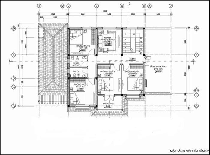 Biệt thự 2 tầng 300m2 cao cấp sang trọng thiết kế tiện nghi