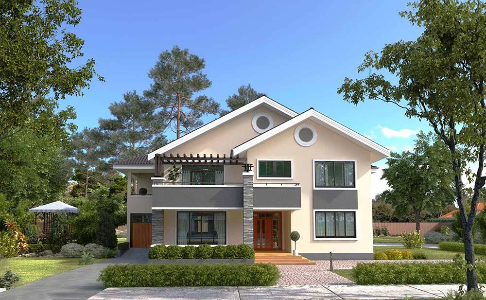 Thiết kế nhà đơn giản cùng không gian xanh mát sẽ đem tới sự nghỉ ngơi thư giãn tốt nhất