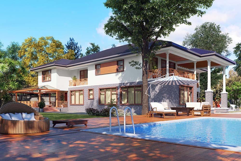 Biệt thự 2 tầng kiểu Mỹ | BST 15+ Thiết kế đẹp xuất sắc nhất