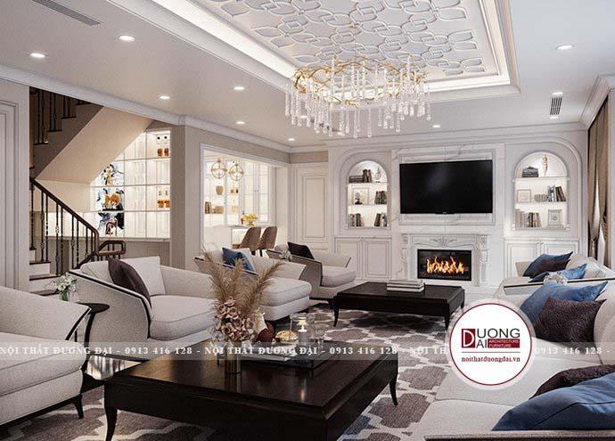 Thiết kế nội thất biệt thự nhất quán về màu sắc, đảm bảo công năng & hình khối giữa các họa tiết