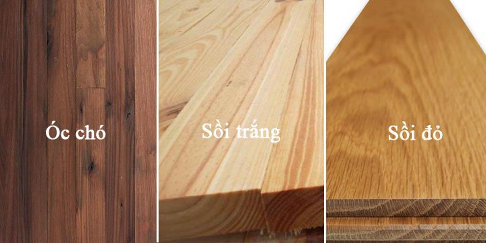 Gỗ óc chó và gỗ sồi có những đặc điểm riêng khác nhau