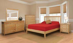 Mẫu phòng ngủ sử dụng chất liệu gỗ Birch với màu sắc mộc mạc, thanh nhã