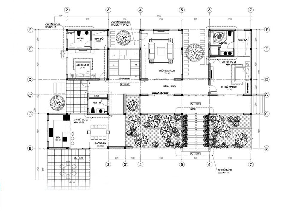 Phòng khách, phòng bếp và 2 phòng ngủ được bài trí tiện nghi đẳng cấp
