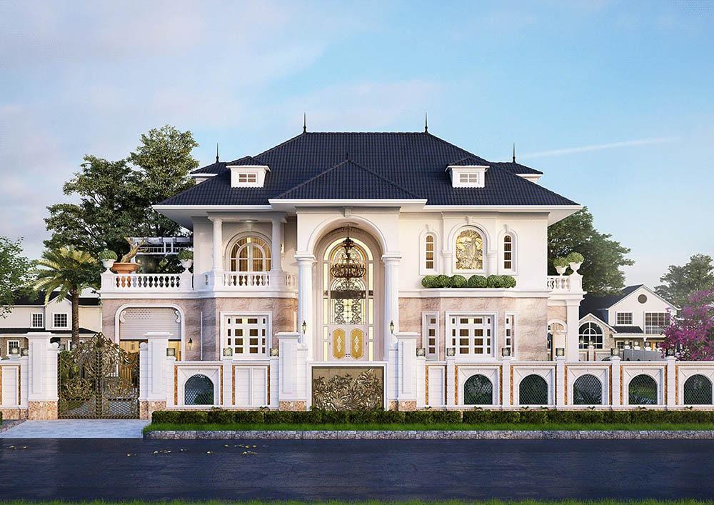 Mẫu biệt thự 2 tầng 200m2 sang trọng với kiến trúc đẹp mê ly
