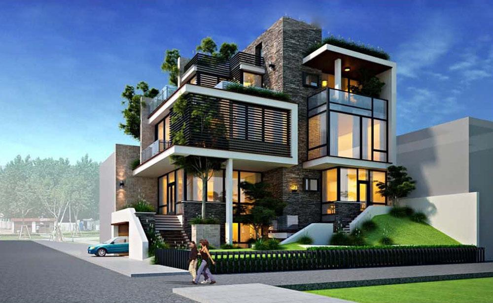 Kiến trúc hiện đại siêu độc đáo với nhiều không gian xanh