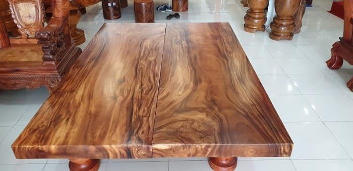 Sập gỗ sang trọng với vân gỗ đẹp mắt