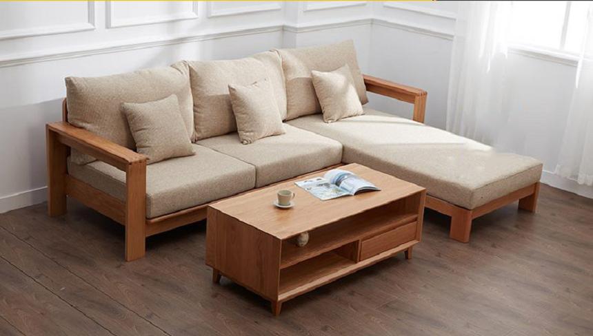 Sofa kết hợp với bộ nệm vải đang được nhiều người quan tâm