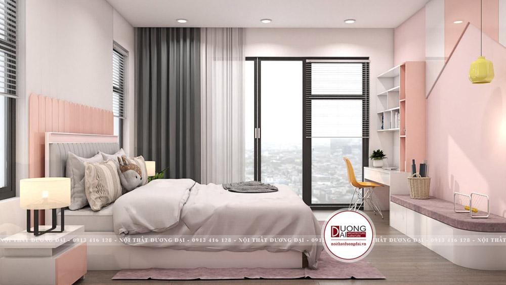 Nội thất gỗ công nghiệp an toàn được sử dụng cho phòng ngủ của bé