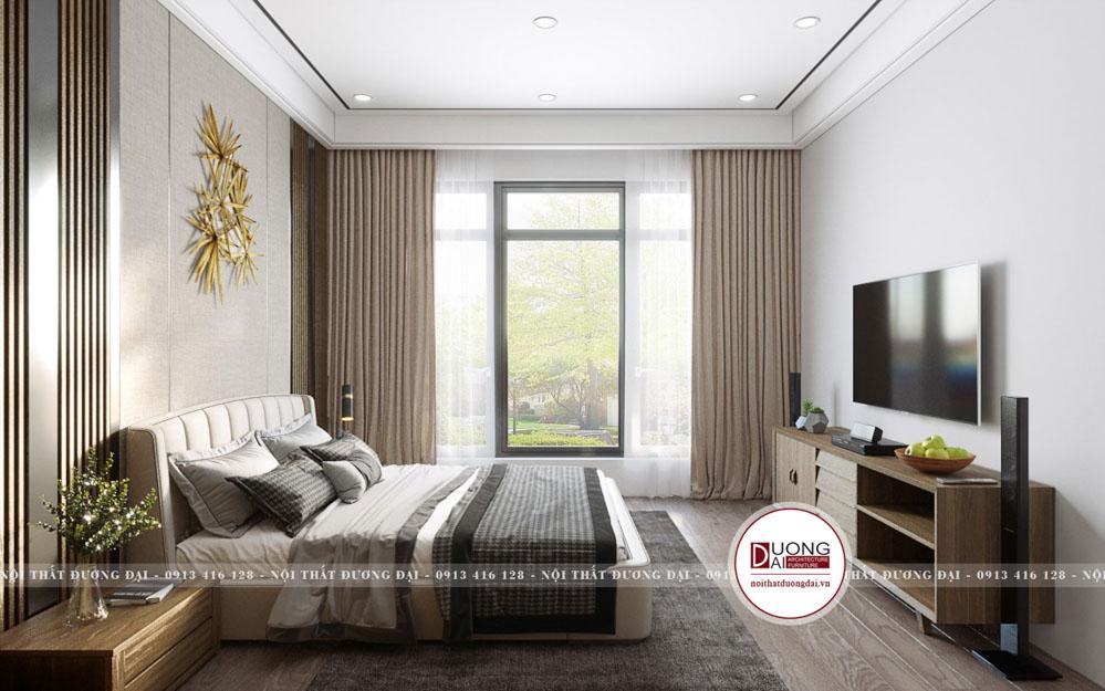 Thiết kế phòng ngủ với nội thất gỗ sang trọng cao cấp