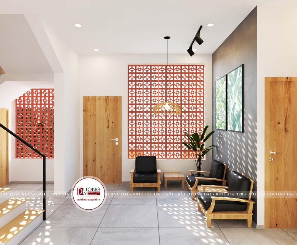 Ghế bành đơn kiểu dáng nhỏ gọn sẽ tối ưu diện tích cho không gian tiếp khách