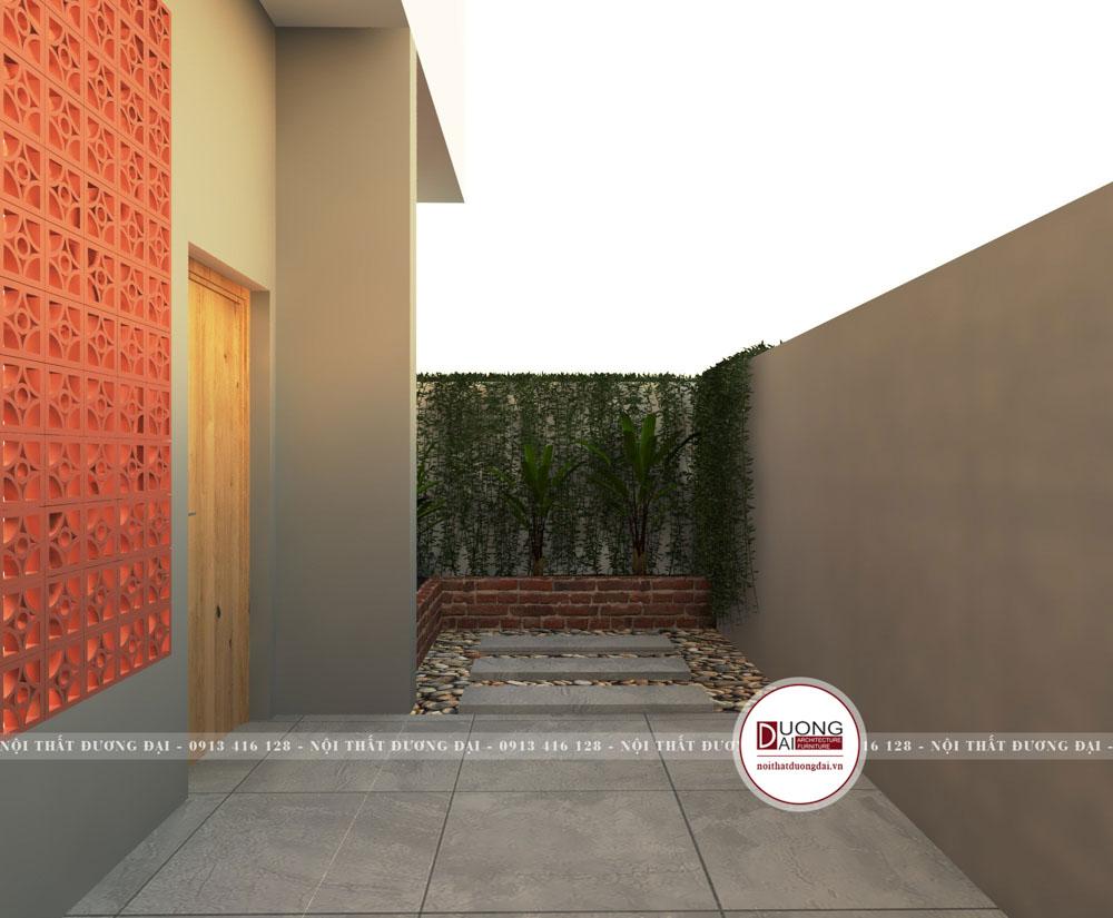 Thiết kế ngoại thất tầng 1 với nét đẹp mộc mạc, giản dị