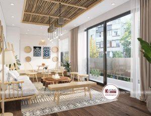 Thiết kế phòng sinh hoạt chung với điểm nhìn đẹp ngắm cảnh