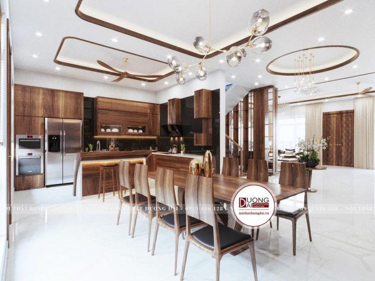 Thiết kế phòng bếp dành cho biệt thự cao cấp