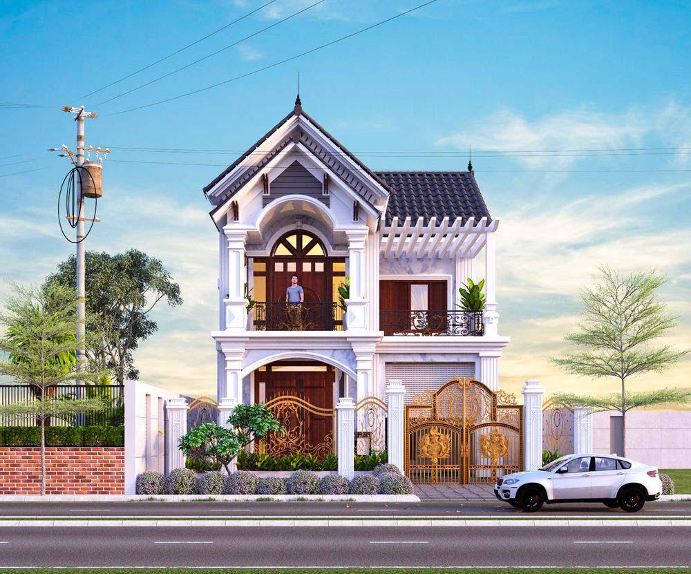 Kiến trúc nhà mái thái đẹp với phong cách tân cổ điển