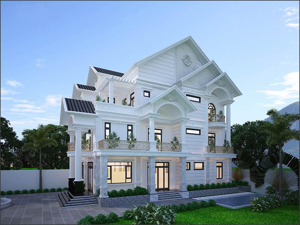 Biệt thự nhà vườn châu Âu quyến rũ với kiến trúc đẹp mãn nhãn