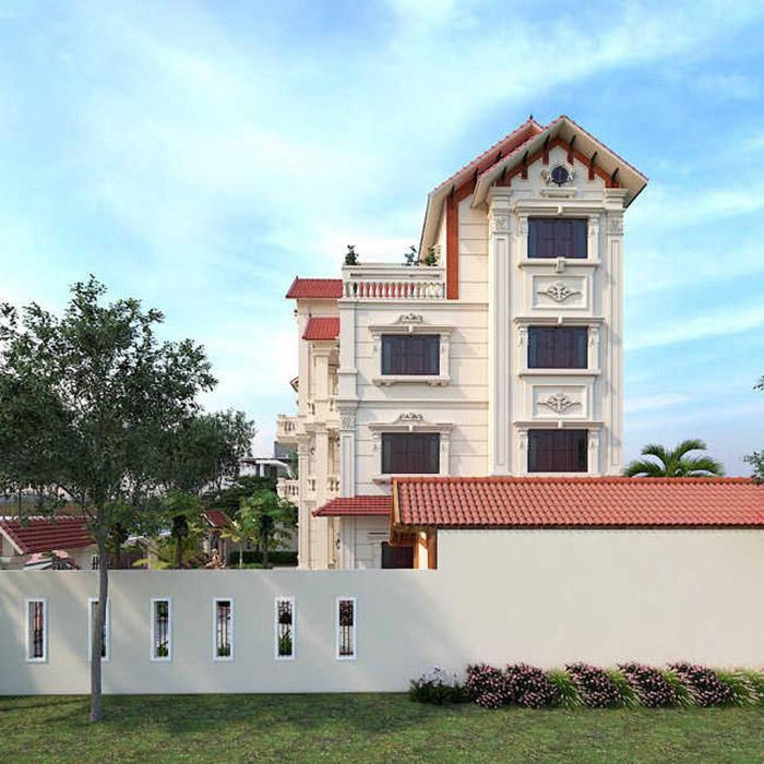 Biệt thự 4 tầng mái thái đẹp | BST 15+ mẫu nhà ấn tượng nhất