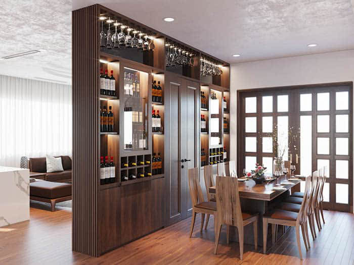 Tủ rượu siêu đẳng cấp cho căn hộ sang trọng