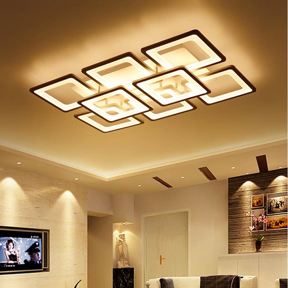 Sử dụng đèn ốp trần cho căn phòng khách thêm phần cá tính hơn