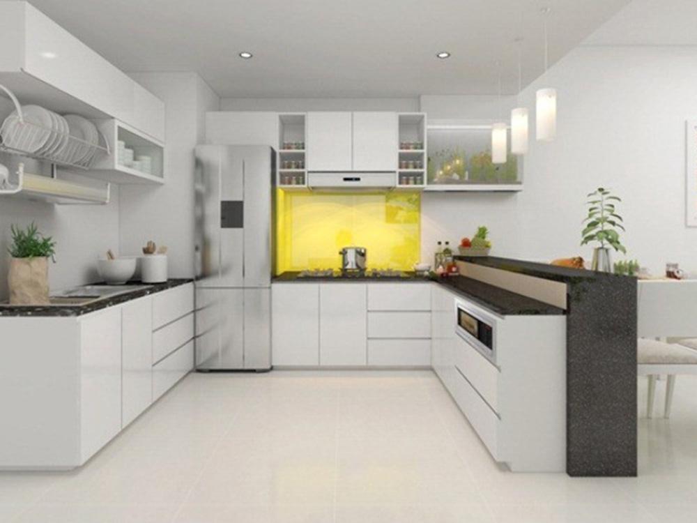 Phối màu cho phòng bếp dựa theo tone màu