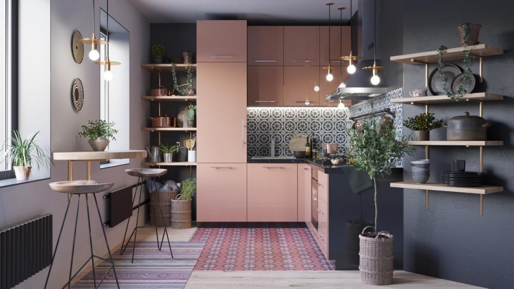 Diện tích căn bếp giúp định hình gam màu