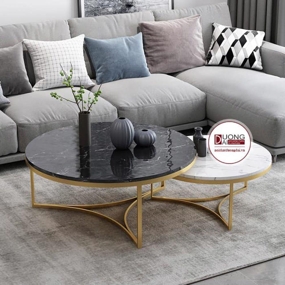 Cách phối màu phòng khách sự kết hợp đen + trắng + xám