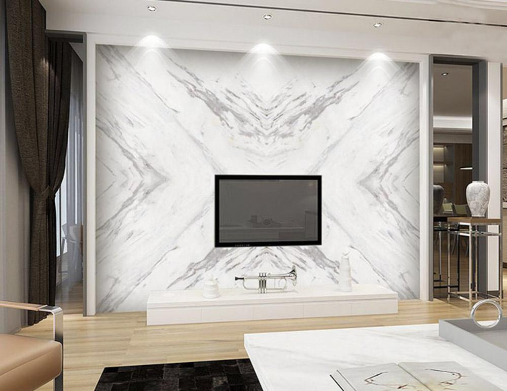 đá marble ốp tường phòng khách