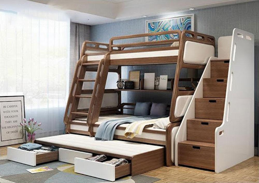 Giường tầng gỗ óc chó 1