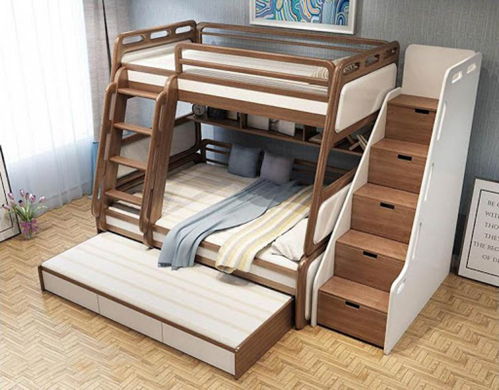 Nên kê giường sát tủ để bé đảm bảo được sự an toàn trong khi dùng