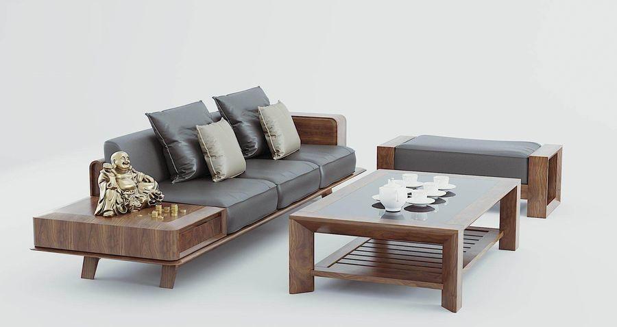 Kích thước sofa gỗ óc chó