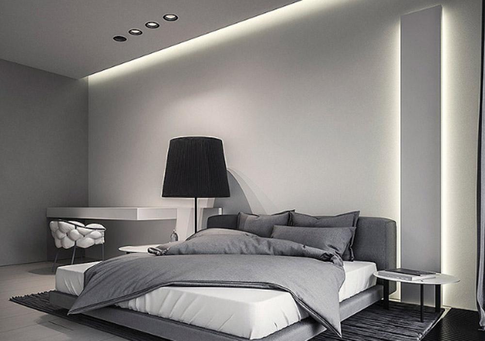 nội thất màu ghi phòng ngủ 3