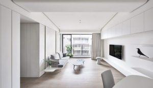 nội thất màu trắng được dùng khá phổ biến hiện nay