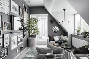 Nội thất màu xám phòng khách