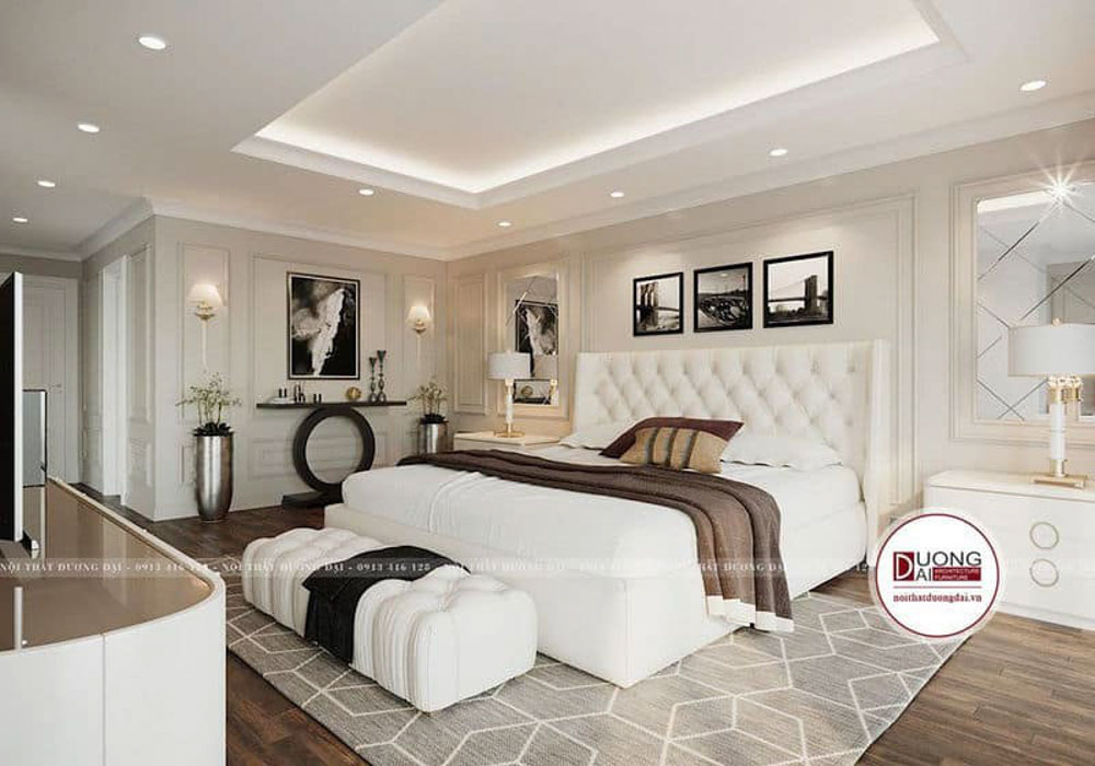 Màu trắng được ứng dụng thông minh trong thiết kế nội thất