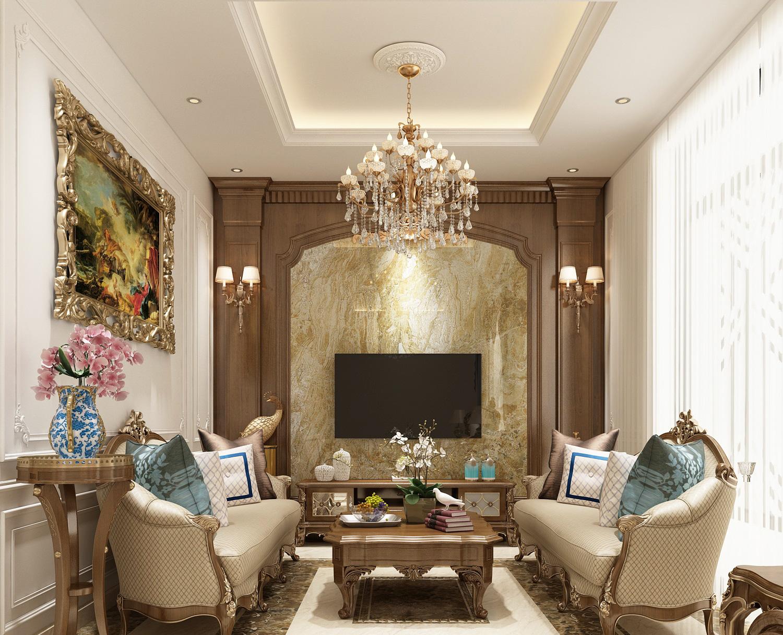 Phòng khách tân cổ điển nét đẹp ấn tượng