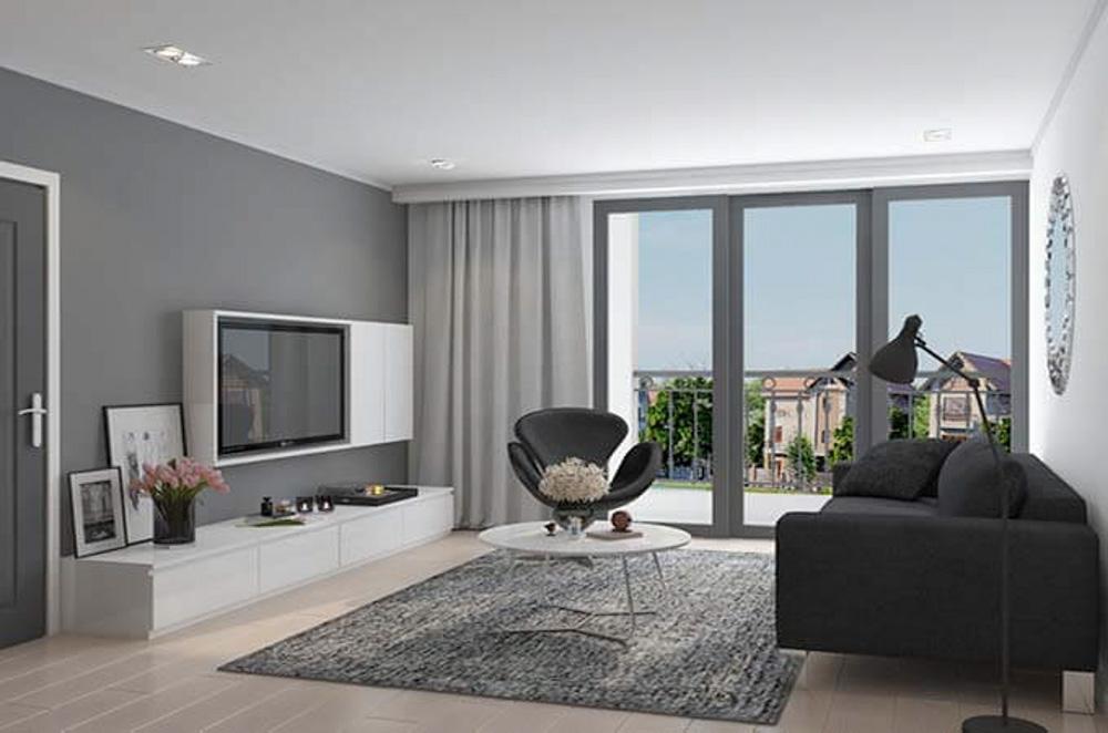Phối màu nội thất phòng khách hiện đại
